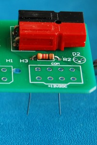 Resistor mounted on PCB