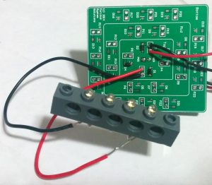 Concentrator PCB with single LED string in brick.
